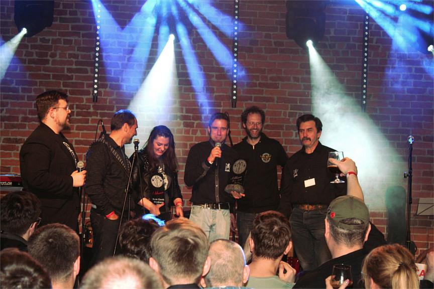 Szałpiw odbierający nagrodę za Beer Geek Choice.